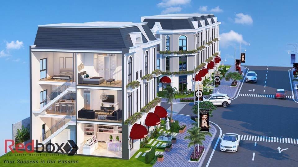 mặt cắt đứng thiết kế nhà